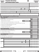 California Form 541-b - Charitable Remainder And Pooled Income Trusts - 2014