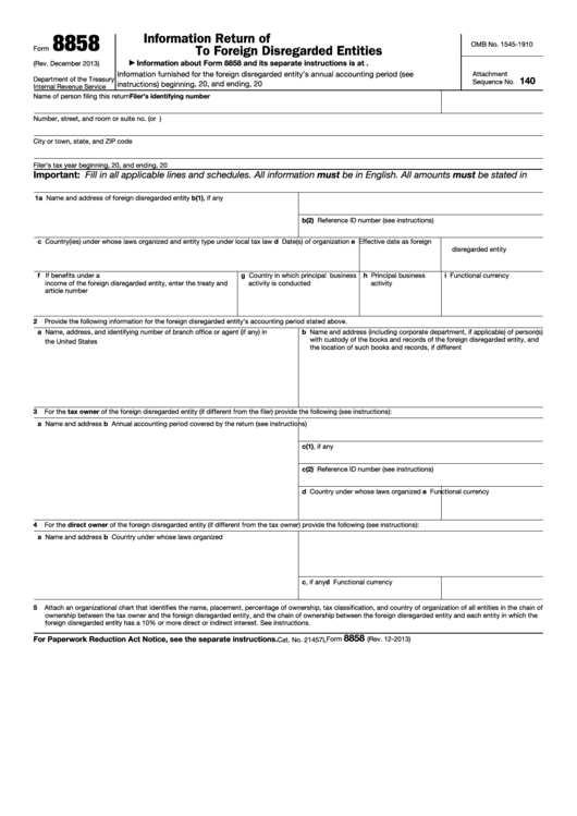 Top 19 Irs Form 8858 Templates Free To Download In Pdf Format