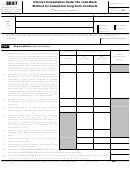 Form 8697 - Interest Computation Under The Look-back Method For Completed Long-term Contracts