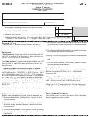 Form Ri-8826 - Disabled Access Credit - 2012