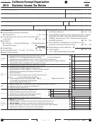 Form 109 - California Exempt Organization Business Income Tax Return - 2015