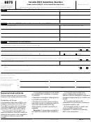 Form 8875 - Taxable Reit Subsidiary Election