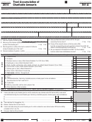 California Form 541-a - Trust Accumulation Of Charitable Amounts - 2014