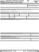 Form 3580 - California Application And Election To Amortize Certified Pollution Control Facility