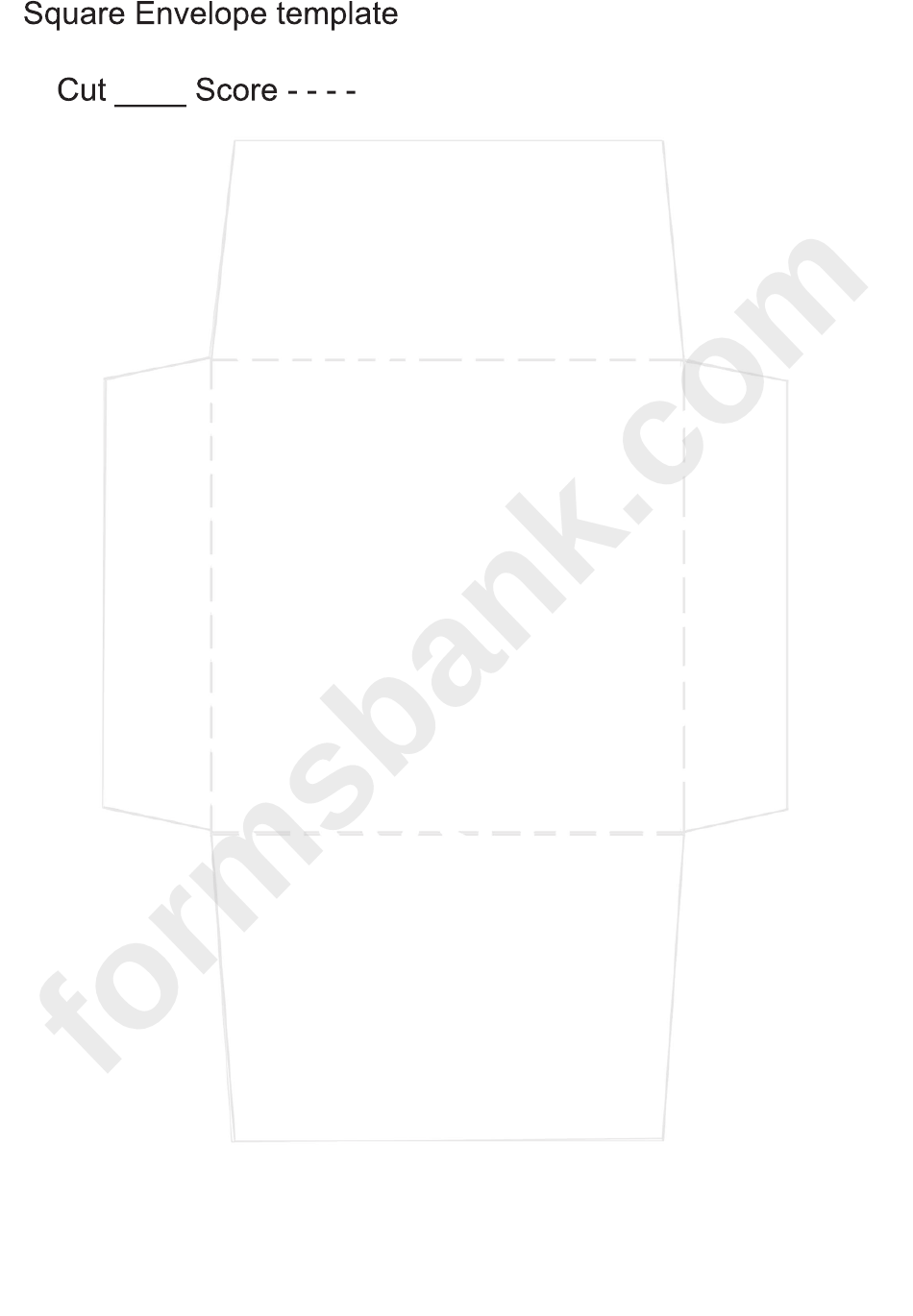 Square Envelope Template Printable Pdf Download