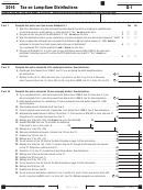 Schedule G-1 - California Tax On Lump-sum Distributions - 2015