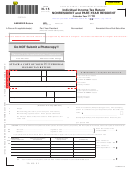 Form N-15 - Individual Income Tax Return - Nonresident And Part-year Resident - 2014
