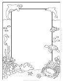 Marine Life Decorative Writing Paper