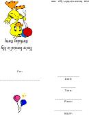 Children's Duck Birthday Party Invitation Template