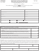 Form Rmc - Application For Recycling Materials Processing Equipment Tax Credit