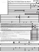 Form Et-706 - New York State Estate Tax Return - 2013