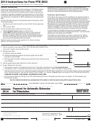 Form 3563 (541) - California Payment For Automatic Extension For Fiduciaries - 2014
