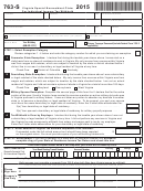 Form 763-s - Virginia Special Nonresident Claim For Individual Income Tax Withheld - 2015