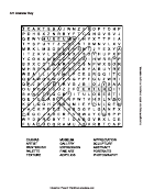 Art Word Search Puzzle Template With Answers