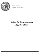 Form Boe-490 - Offer In Compromise Application