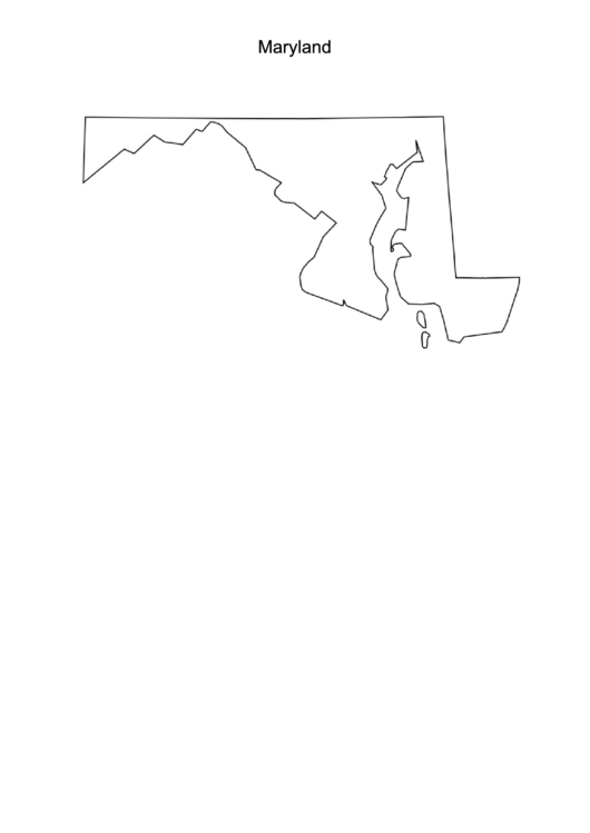 Maryland Map Template