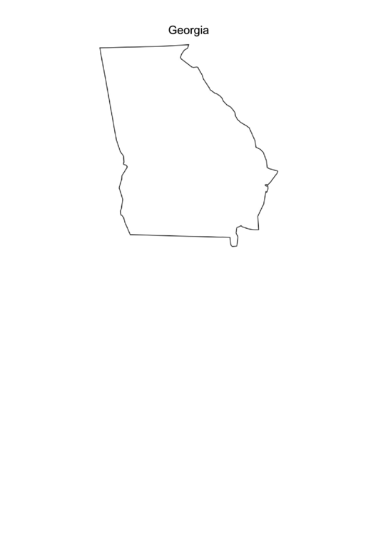 Georgia Map Template Printable Pdf Download - Georgia map template