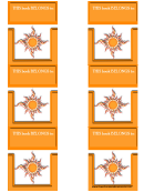 Sun Bookmark Template