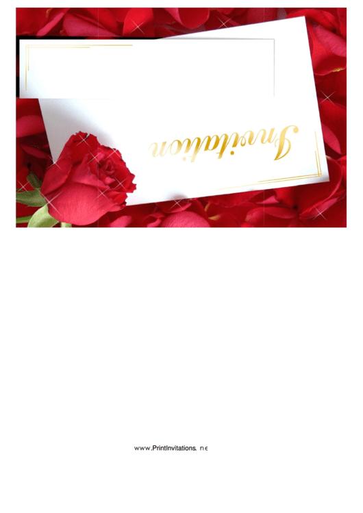 Roses Invitation Printable pdf