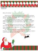 Santa Exists Letter Template