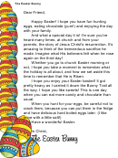 Religious Easter Bunny Letter Template
