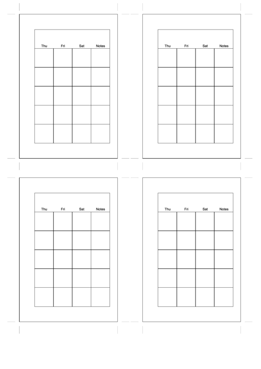 Small Organizer - Monthly Planner Printable pdf