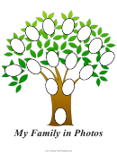 Family Tree With Oval Photos