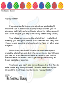 At-school Easter Bunny Letter Template