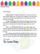 Easter Bunny Letter Template - Community Egg Hunt