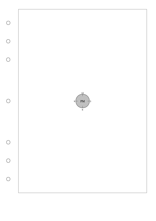 A4 Clock Planner Printable pdf