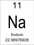 Element 011 Sodium