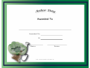 Arbor Day Holiday Certificate