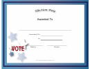 Election Day Holiday Certificate
