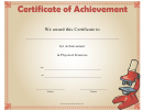 Physical Sciences Achievement