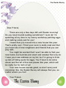 Easter Bunny Letter Template - New House