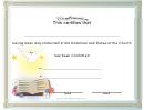 Church Confirmation Certificates Templates - Bird And Book