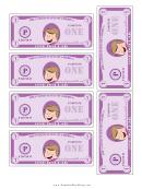 Mini-play Purple Money Template