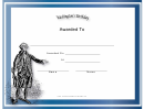 Washingtons Birthday Holiday Certificate