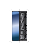 Computer Bookmark Template - Keyboard