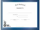 Rosh Hashanah Holiday Certificate