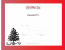 Christmas Eve Holiday Certificate Template