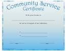 Judge Service Certificate