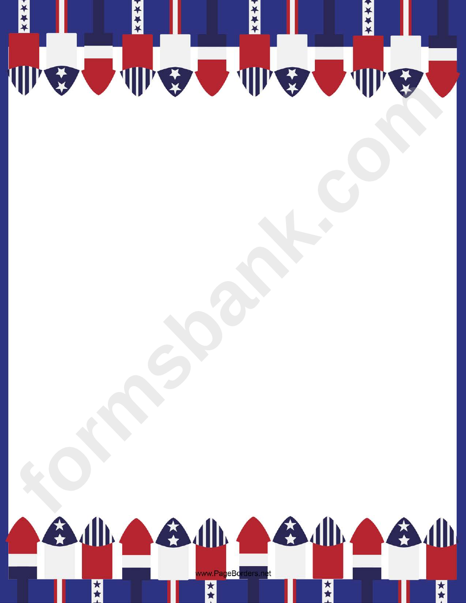 Stars And Stripes Page Border