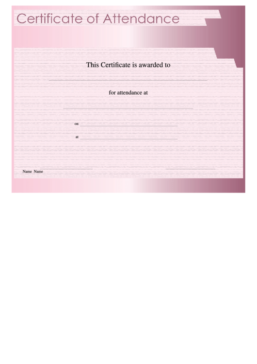 top 7 unsorted attendance certificate templates free to download in