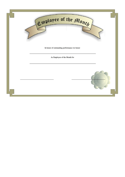 Employee Of The Month Certificate Template Free Image Collections Employee  Of The Month Certificate Template Free  Employee Of The Month Certificate Template Free