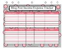 Blog Expense Tracker Template