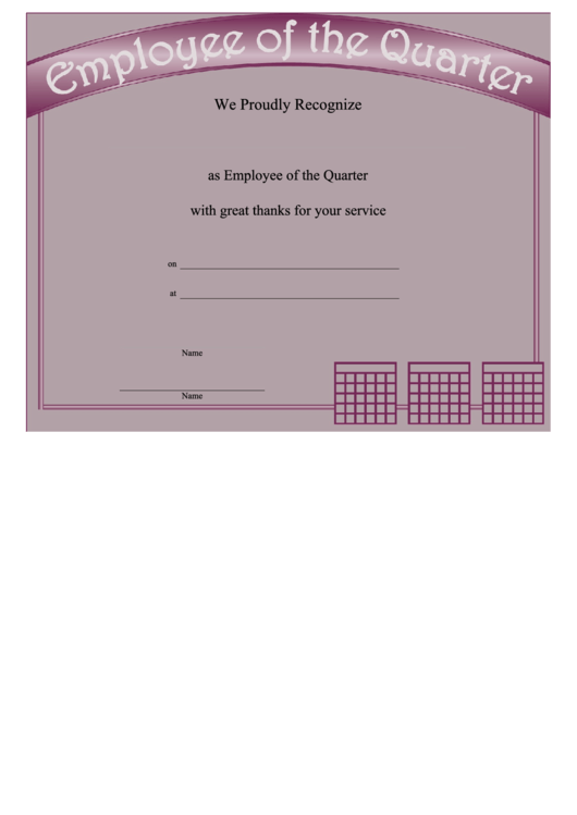 Employee of the quarter printable pdf download for Employee of the quarter certificate template
