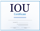 Iou Certificate