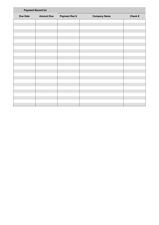 payment record form printable pdf download