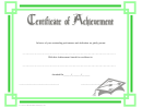 Certificate Of Achievement - Green